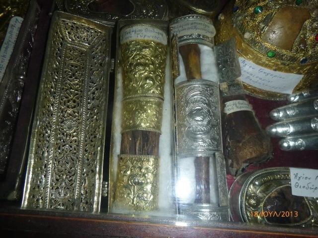 Άγια λείψανα από την Ιερά Μονή Ιβήρων Αγίου Όρους